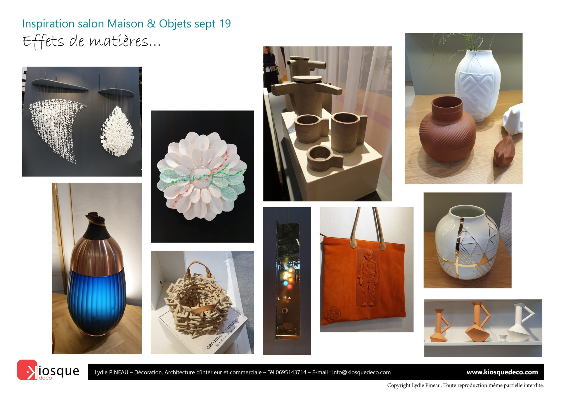 INSPIRATION MAISON OBJETS SEPT19 PAR LYDIE PINEAU KIOSQUE DECO DECORATION ET ARCHITECTE D'INTERIEUR NANTES